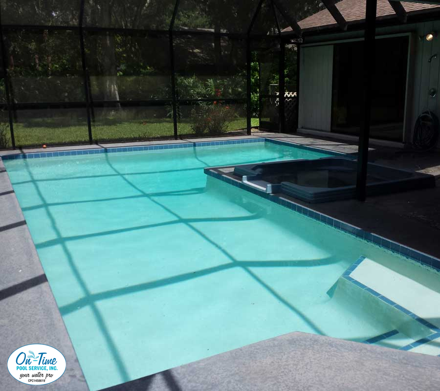 Green To Clean Algae Removal From On Time Pool Service