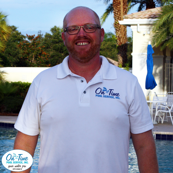 Aaron Sheehan Route Manager for On-Time Pool Service of Sarasota